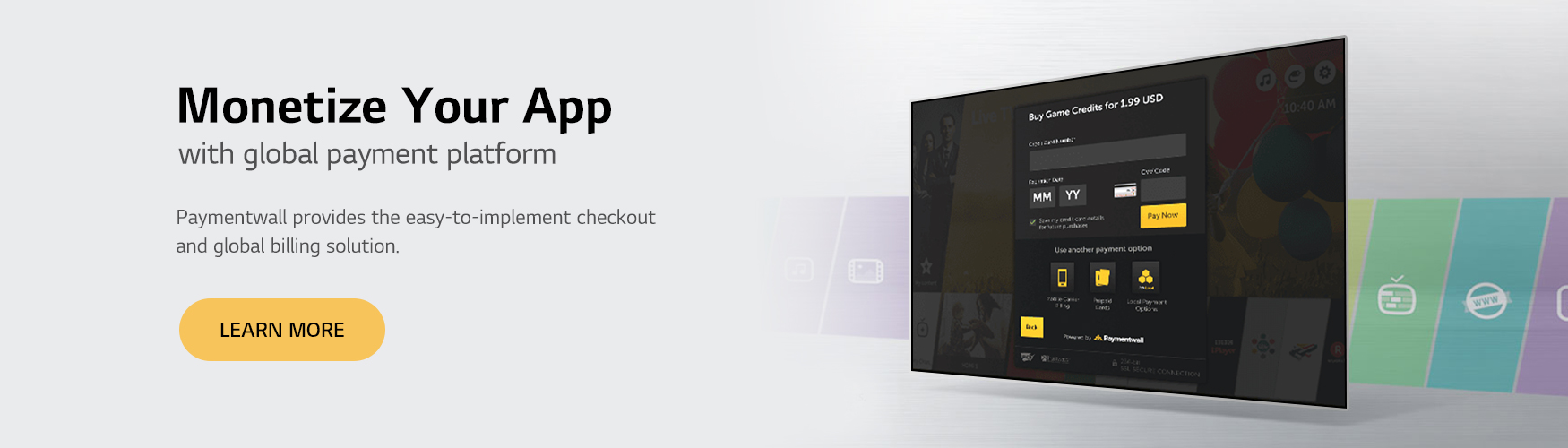 In-app purchase banner