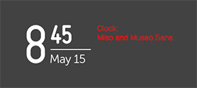 Font usage of the system clock
